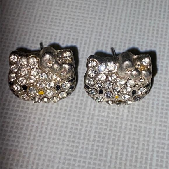 Hello KittyCrystal Stud Earrings